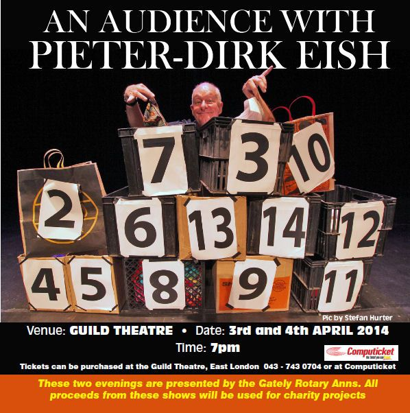 An Audience with Pieter-Dirk EISH 3&4 April