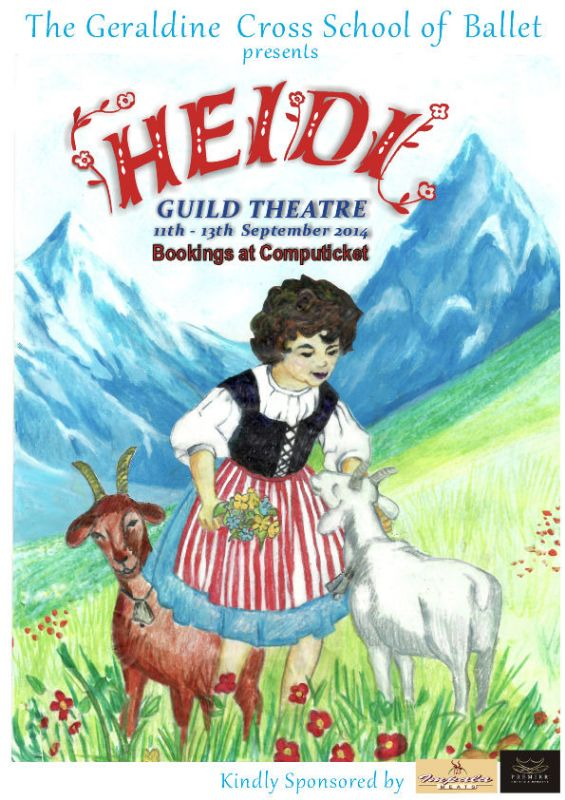 "Geraldine Cross Ballet School presents ""Heidi"" (11-13 Sept)"