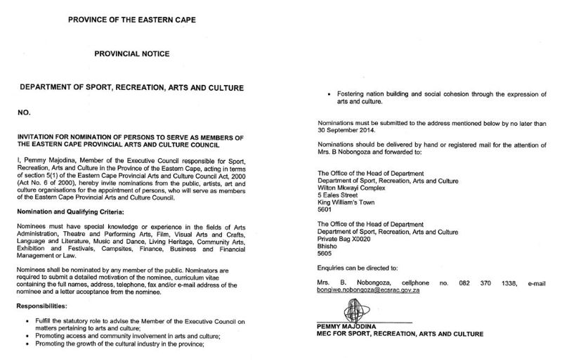 Invitation For ECPACC Council Nominations 2014
