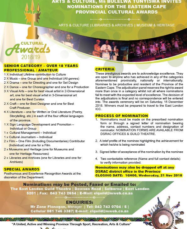 Eastern Cape Provincial Cultural Awards 2018