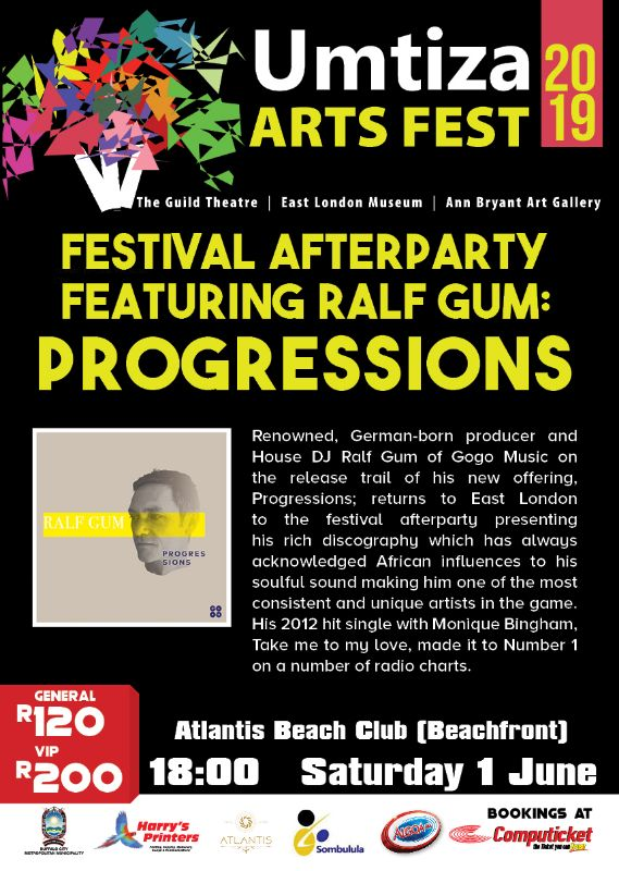UMTIZA ARTS FESTIVAL 2019 - AFTER PARTY FEATURING RALF GUM (1 JUNE 2019)
