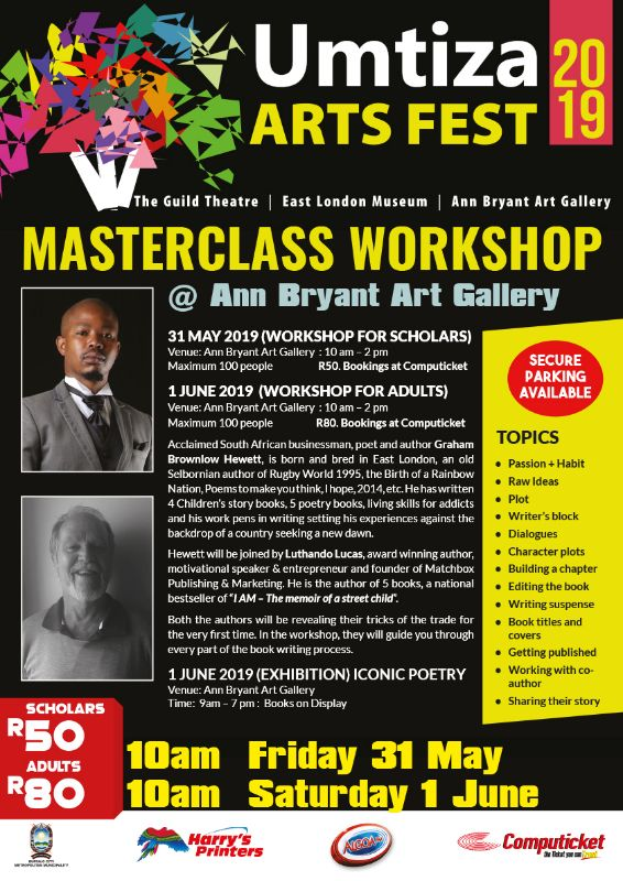 UMTIZA ARTS FESTIVAL 2019 - MASTERCLASS WORKSHOP (31 MAY - 1 JUNE 2019)